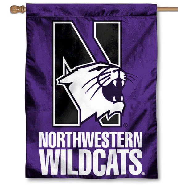 NU Wildcats House Flag