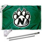 NWMSU Bearcats Flag and Bracket Mount Flagpole Set