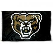 Oakland Grizzlies Grizzly Head Flag