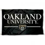 Oakland University Wordmark Logo Flag