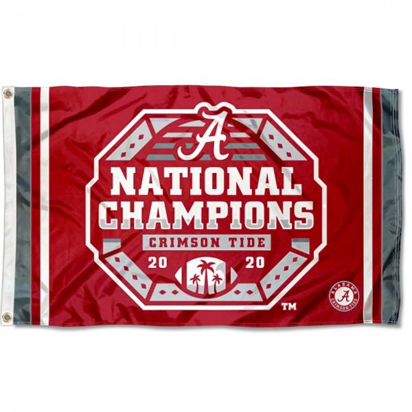 Official 2020 Logo National Champions Alabama Crimson Tide Outdoor Grommet Flag
