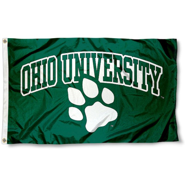 Ohio Bobcat Paw Flag