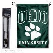 Ohio Bobcats Garden Flag and Holder
