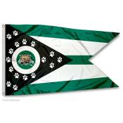 Ohio Bobcats OH State Shaped Flag