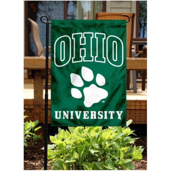 Ohio Bobcats Paw Garden Banner