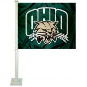 Ohio OU Bobcats Car Flag