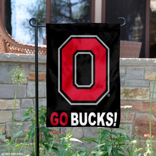 Ohio State Black Go Bucks Garden Banner