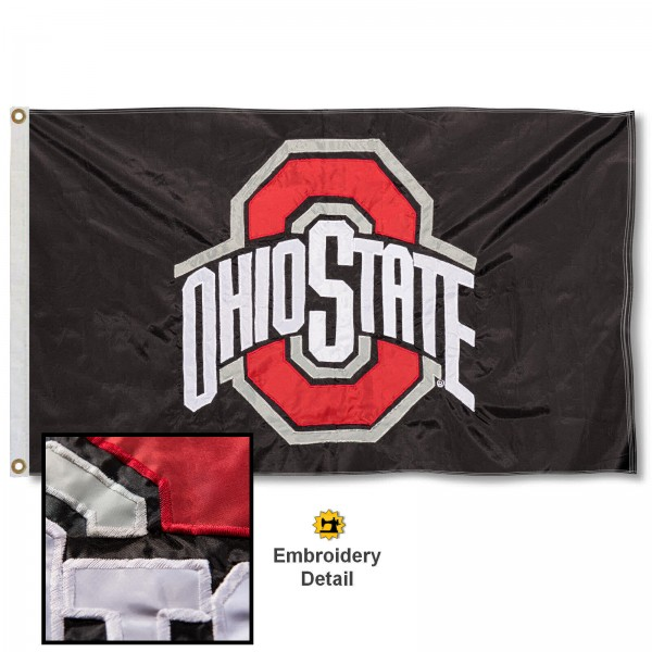 Ohio State Buckeyes Appliqued Nylon Flag