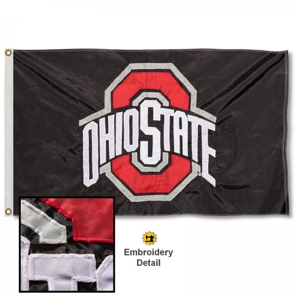 Ohio State Buckeyes Appliqued Nylon Flag