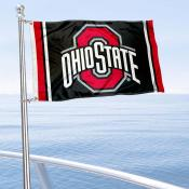 Ohio State Buckeyes Black Nautical and Golf Cart Flag