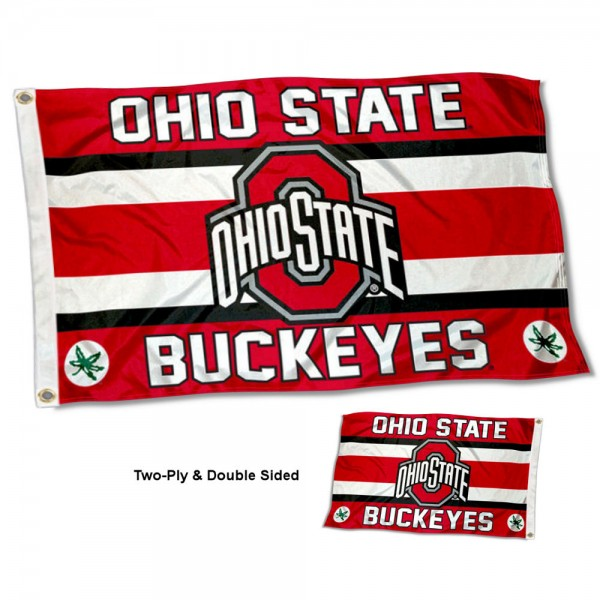 Ohio State Buckeyes Double Sided 3x5 Feet Flag