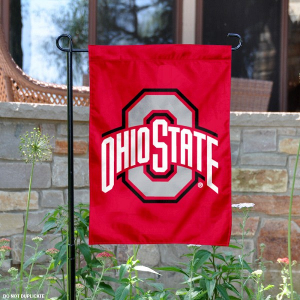 Ohio State Buckeyes Garden and Yard Flag