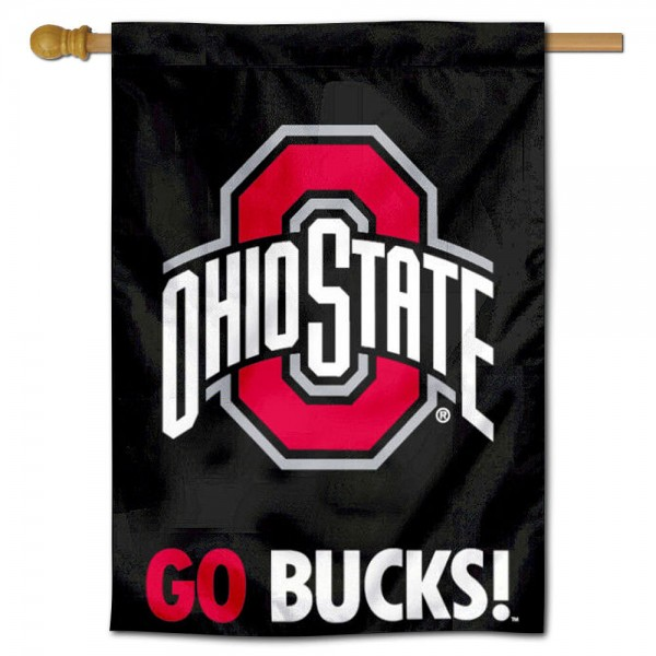 Ohio State Buckeyes GO BUCKS House Flag