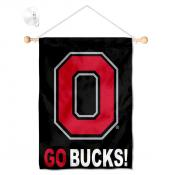 Ohio State Buckeyes Go Bucks Small Wall and Window Banner