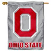 Ohio State Buckeyes Gray House Flag