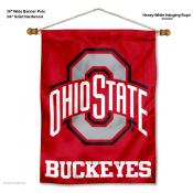 Ohio State Buckeyes Logo Banner with Pole