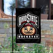 Ohio State Buckeyes Mascot Brutus Garden Flag