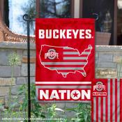 Ohio State Buckeyes Nation Garden Flag