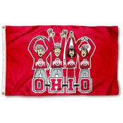 Ohio State Buckeyes OHIO Cheer Flag