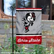 Ohio State Buckeyes Retro Throwback Garden Banner