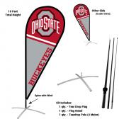 Ohio State Buckeyes Teardrop Flag and Stand Kit
