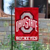 Ohio State OSU Buckeyes Yard Garden Flag