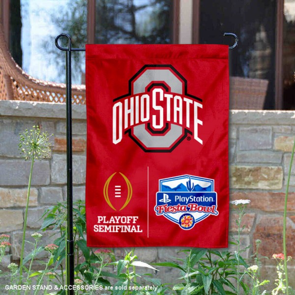 Ohio State University College Football Playoff Semifinal Game Double Sided Garden Flag