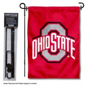Ohio State University Garden Flag and Holder