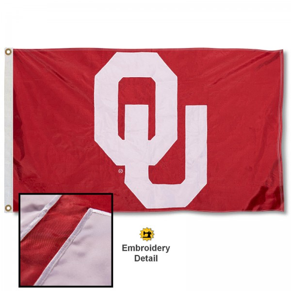 Oklahoma Sooners Appliqued Nylon Flag