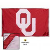 Oklahoma Sooners Appliqued Nylon Flag