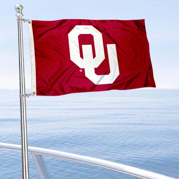 Oklahoma Sooners Boat Flag