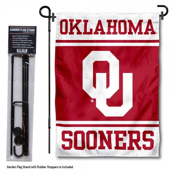 Oklahoma Sooners Garden Flag and Holder