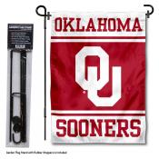 Oklahoma Sooners Garden Flag and Holder