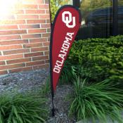 Oklahoma Sooners Mini Teardrop Garden Flag