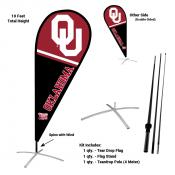 Oklahoma Sooners Teardrop Flag and Stand Kit