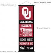Oklahoma Sooners Wall Banner and Door Scroll