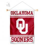 Oklahoma Sooners Window Hanging Banner with Suction Cup