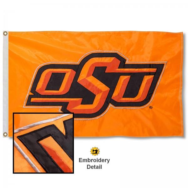 Oklahoma State Cowboys Appliqued Sewn Nylon Flag