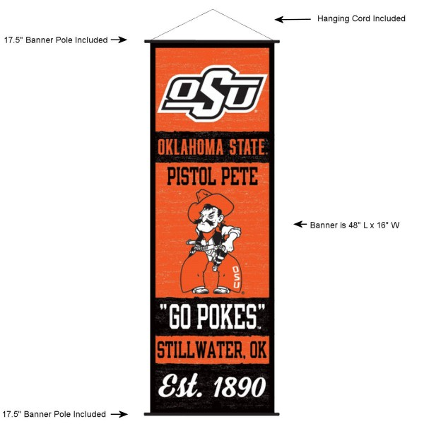 Oklahoma State Cowboys Wall Banner and Door Scroll