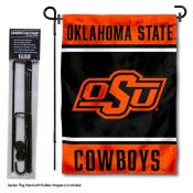 Oklahoma State University Garden Flag and Yard Pole Holder Set
