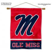 Ole Miss Banner with Pole