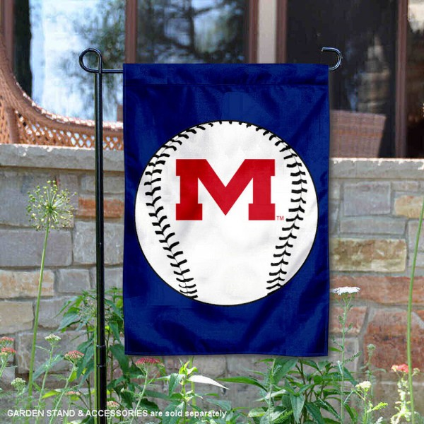 Ole Miss Baseball Garden Flag