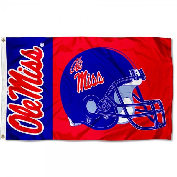 Ole Miss Football Flag