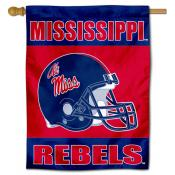 Ole Miss Football Helmet House Flag