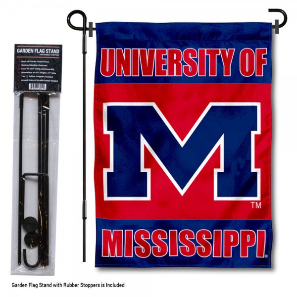 Ole Miss Garden Flag and Holder