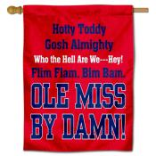 Ole Miss Hotty Toddy Logo House Flag