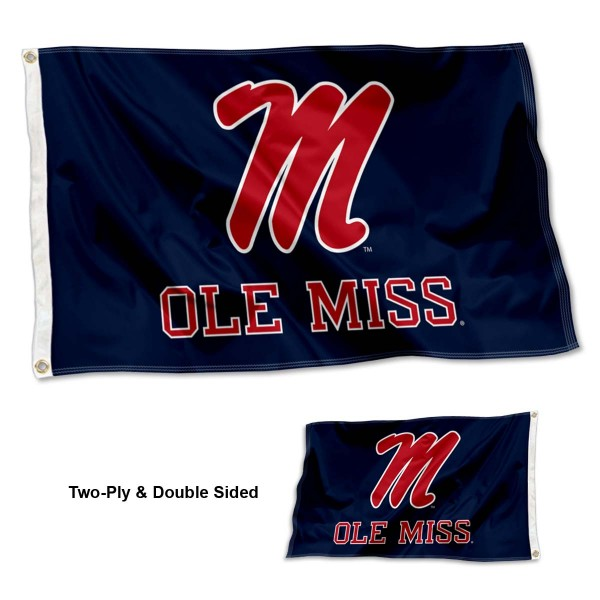 Ole Miss Logo Outdoor Flag