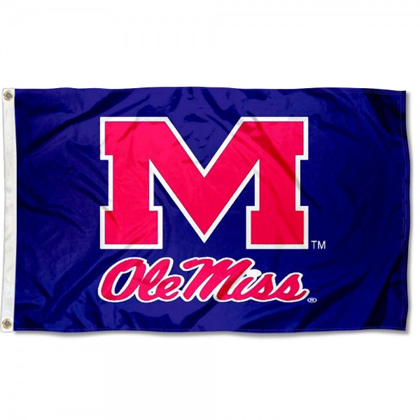 Ole Miss Rebels Blue Flag