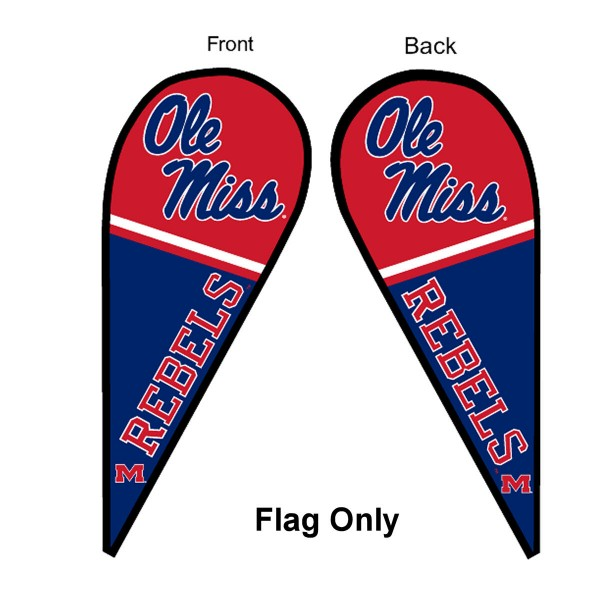 Ole Miss Teardrop Flag