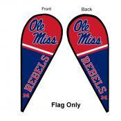 Ole Miss Teardrop Flag